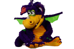 Children's favourite purple dragon