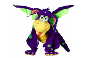 Purple Dragon puppet