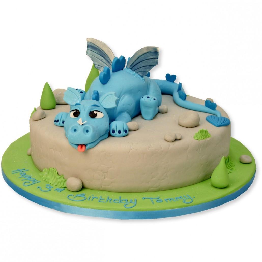 Baby Blue Birthday Cake