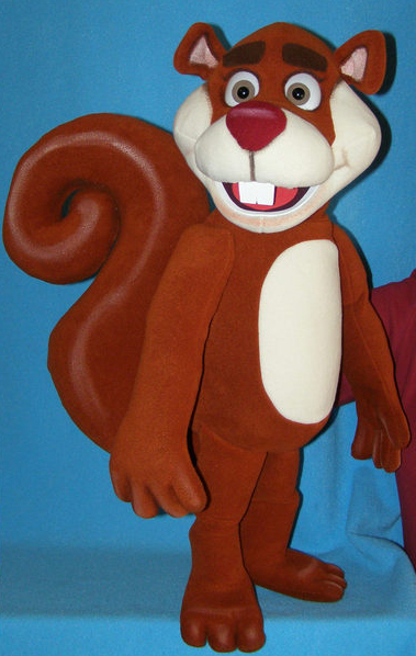 dmitri, the squirrel for children's parties in Gloucestershire